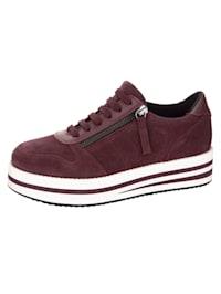 Sneakers med randig platåsula
