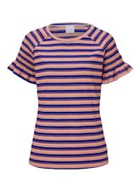 T-Shirt mit Smokdetail