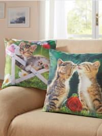 Kuddfodral med söta katter