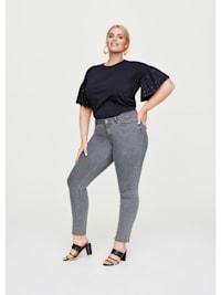 5-Pocket Stretch-Jeans mit Nieten