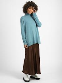 Lang-Pullover Abella Feinstrick-Organic- Cotton Pullover Langarm mit Cashmere