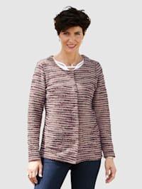 Buklé svetr s třpytivou přízí