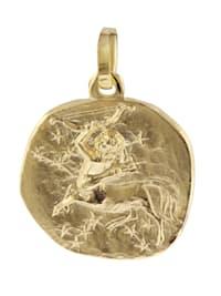 Sternzeichen-Anhänger Schütze 333 Gold 16 mm