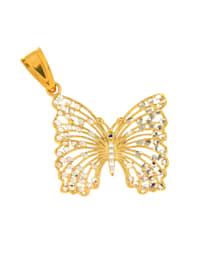 Hanger Vlinder van verguld zilver