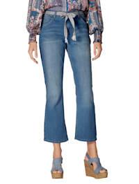 Jeans met bindceintuur