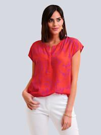 Shirt met bloemenprint allover