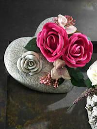 Grabaufleger mit Rosenarrangement