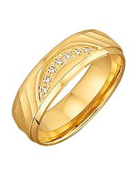 Förlovningsring med glittrande stenar