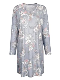 Nightdress with chic contrast piping
