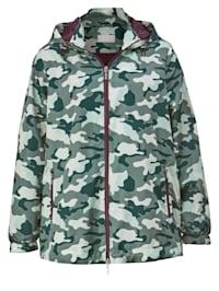 Veste à motif camouflage