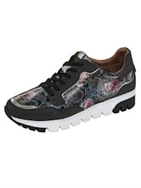 Sneakers à plateau à imprimé floral coloré