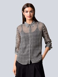 Bluse im Muster-Mix