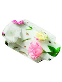 Nakkepute med blomstertrykk