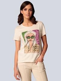 T-Shirt mit Glitzersteinen