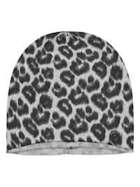 Softe Leo-Mütze mit Wolle und Kaschmir