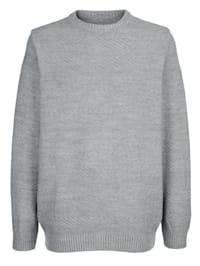 Pulovr s celoplošným pleteným vzorem