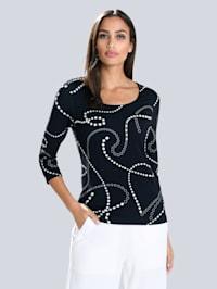 Shirt im Alba Moda exklusivem Print