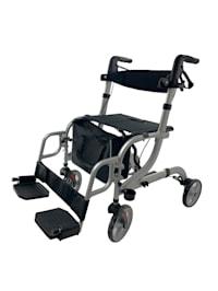 Rollator-rolstoel 2-in-1
