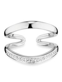 Ring 925/- Sterling Silber Topas weiß Glänzend 0,004ct/pc. 925/- Sterling Silber