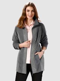 Fleecová bunda v mixu materiálů
