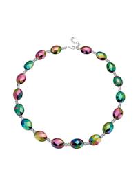 Halskette aus Regenbogen-Achat