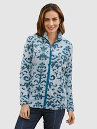 Fleece vest met grafisch dessin