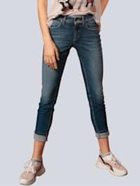 Jeans mit Zierbändern