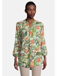 Blüten-Bluse mit Muster Druck