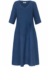 Abendkleid Kleid mit 3/4-Arm aus 100% Leinen