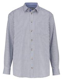 Skjorta med smårutigt mönster