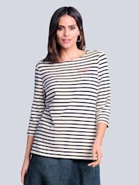 Shirt in maritieme kleurencombinatie