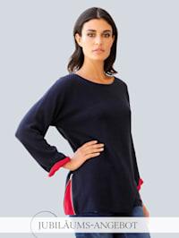 Pullover mit seitlichem Zipper