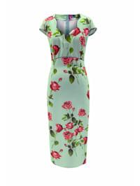 Maxikleid Maxikleid mit Blumenprint und V-Ausschnitt