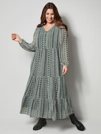 Maxi-jurk met fraai dessin