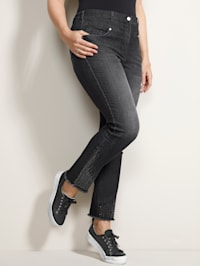 Jeans mit Verzierung am Bein