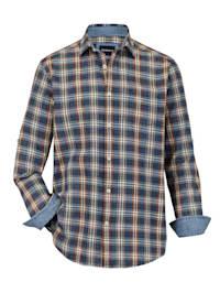 Chemise avec manches retroussables