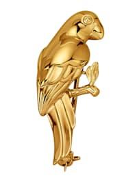 Papagei-Brosche in Gelbgold 585