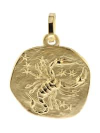 Sternzeichen-Anhänger Skorpion 585 Gold 16 mm
