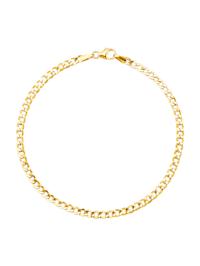 Bracelet maille gourmette en or jaune 375