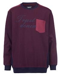 Sweatshirt med kontrasterande besättning
