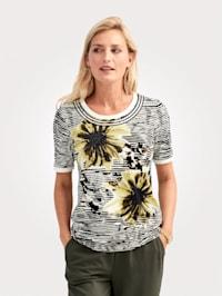 Shirt mit Paillettenbänder und Metallplätchen