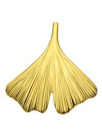 Damen Goldschmuck 375 Gold Anhänger Ginkoblatt