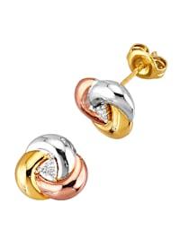 Boucles d'oreilles serties de diamants