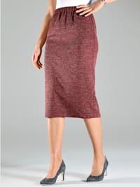 Žerzej sukně v melírové kvalitě