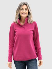 Fleece trui in sportieve look