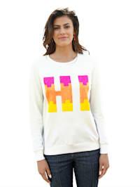 Sweatshirt mit Schriftzug aus Pailletten