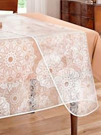 Schutz-Tischdecke 'Ornament' glasklar