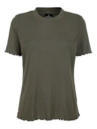 Shirt met geschulpte zoom