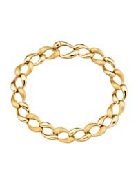 Bracelet maille gourmette en or jaune 585