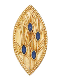Brosch i jugendstil med lapis lazuli